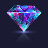 Crystal Jewelry Zirconium Gemstone lucido intelligente Fotografia Stock