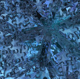 Crystal Jigsaw Blue Fotografia de Stock Royalty Free