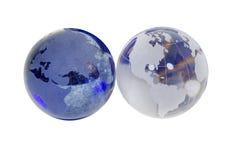 crystal jordklot Fotografering för Bildbyråer