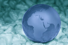 crystal jordklot Arkivbilder
