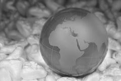 crystal jordklot Arkivfoto