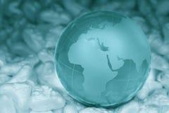 crystal jordklot Arkivfoton
