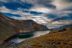 Crystal Lake på solnedgången Ophir Pass Colorado Royaltyfria Bilder