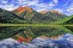 Crystal Lake, San Juan Mountains, Colorado fotografia stock libera da diritti