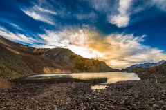 Crystal Lake at Sunset Ophir Pass Colorado Stock Image