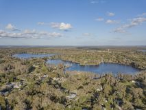 Crystal Lakes near Tampa, Florida. Crystal Lakes are in a suburb of Tampa and provide an beautiful neighborhood backdrop royalty free stock photography