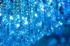Crystal lamp  background blue Royalty Free Stock Photography