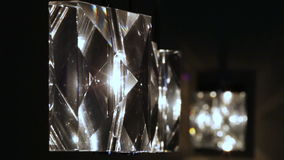 Crystal lamps in a row stock video footage