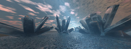 Crystal landscape 2 Stock Images