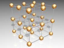 Crystal lattice Royalty Free Stock Photography