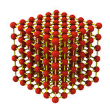 Crystal lattice structure 3d Royalty Free Stock Photography