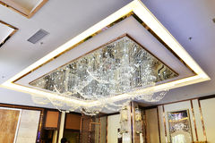 Crystal led ceiling  lighting Stock Images