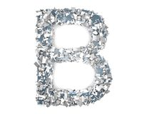 Crystal Letter - B Immagini Stock