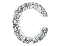 Crystal Letter - C Photo stock