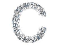 Crystal Letter - C Illustrazione Vettoriale