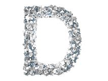 Crystal Letter - D Foto de Stock Royalty Free