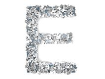 Crystal Letter - E Fotos de Stock Royalty Free