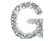 Crystal Letter - G Immagine Stock