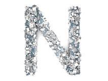 Crystal Letter - N Imagens de Stock Royalty Free