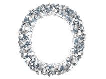 Crystal Letter - nolla Royaltyfri Fotografi
