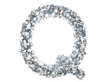 Crystal Letter - Q Immagine Stock
