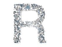 Crystal Letter - R Fotografia de Stock Royalty Free