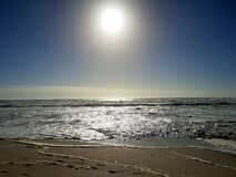Crystal-like sparkling water, photographed at Bloubergstrand, South Africa