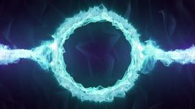 Crystal Logo Circle azul 4K stock de ilustración