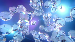 Crystal loopable background Royalty Free Stock Image