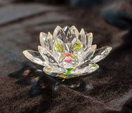 Crystal lotus on the black velvet Royalty Free Stock Image