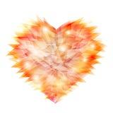 Crystal love shape stock illustration