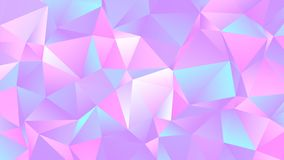 Crystal Low Poly Backdrop Design colorido pastel ilustração do vetor