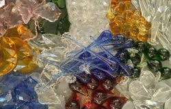 Crystal. Many kind of crystal made the wonderful chading Royalty Free Stock Images