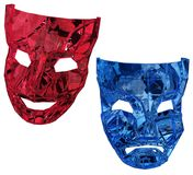 Crystal Masks Red und Blau Stockbilder