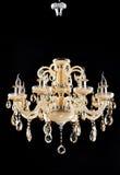 crystal mer chandlier belysninglampa Arkivfoton
