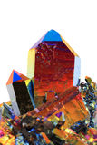Crystal with metal rainbow surface Stock Photo