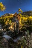 Crystal Mill Bright Starry Night Gunnison Colorado Imagenes de archivo