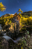 Crystal Mill Bright Starry Night Gunnison Colorado Stock Images