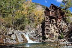 Crystal Mill, Colorado. The Crystal Mill is a picturesque area in Colorado state. It's located above the Crystal River in Crystal, Colorado. The Crystal royalty free stock photo