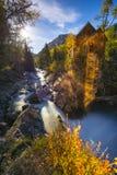 Crystal Mill na paisagem de Colorado da noite Fotos de Stock Royalty Free