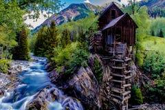 Crystal Mill no mármore, Colorado imagens de stock royalty free