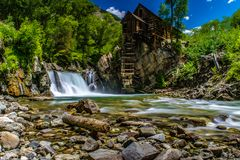 Crystal Mill in Marble, Colorado stock image