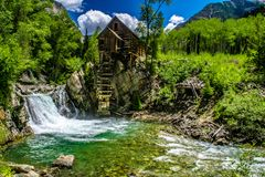 Crystal Mill in Marble, Colorado royalty free stock photo
