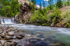 Crystal Mills Waterfall im Marmor, Colorado Lizenzfreies Stockbild