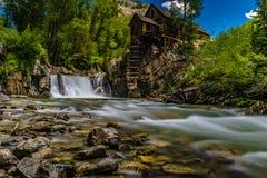 Crystal Mills Waterfall im Marmor, Colorado Lizenzfreie Stockfotografie