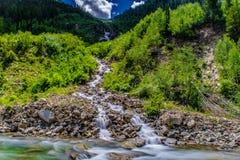 Crystal Mills Waterfall im Marmor, Colorado Lizenzfreie Stockbilder