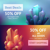 Crystal Mineral Banners Royalty Free Stock Photos