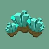 Crystal Mineral Illustration Stockfoto