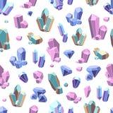 Crystal Minerals Seamless Pattern Fotos de archivo libres de regalías