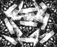 Crystal modell för klar stor diamant Arkivbild